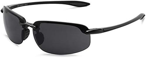 ZJIEJ Lunettes de Soleil Sports Sunglasses Men Women Driving Running Rimless Ultralight Frame Sun Glasses Male Uv400