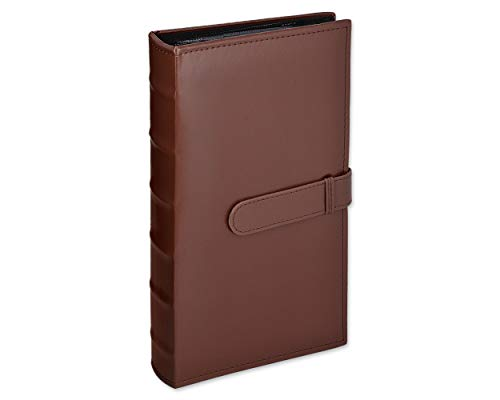 Ace Select 300 Pockets Retro PU Leather Cover 5-inch Photo Album for Fujifilm Instax Wide 210/ Instant Wide 200/ Instant Wide 300/ Fujifilm FP 3000B/ Fujifilm FP100C Films - Deep Brown