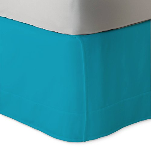 Home Improvement Season 9 Christmas - SUMMER CLEARANCE SALE 50% LOW PRICES BED SKIRT Hypoallergenic Hotel Collection 600 Thread Count 100% Egyptian Cotton Bed Skirt with 9 inch drop Solid (Box Bed Skirt) (Turquoise Blue, Twin)