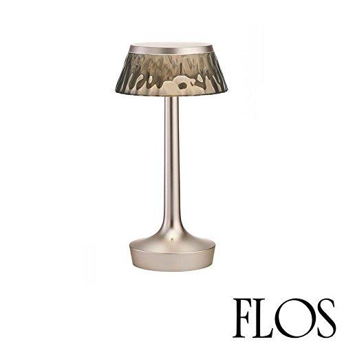 (Flos Bon Jour Unplugged LED Table Lamp Matt Chrome Fumeè F1037046)