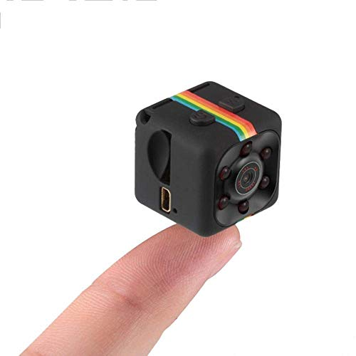 Mini Spy Camera and Night Vision and Motion Detection, Hidden Cam 1080P HD, Home Security Cop Cam Loop Video Recording Indoor and Outdoor ()