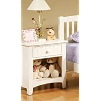 White Solid Wood Finish Night Stand PDS F40238