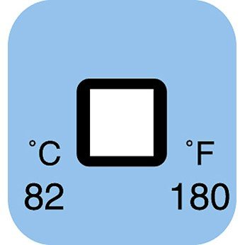 Digi-Sense Irreversible 1-Point Square Temperature Label, 99F/37C; 50/Pk