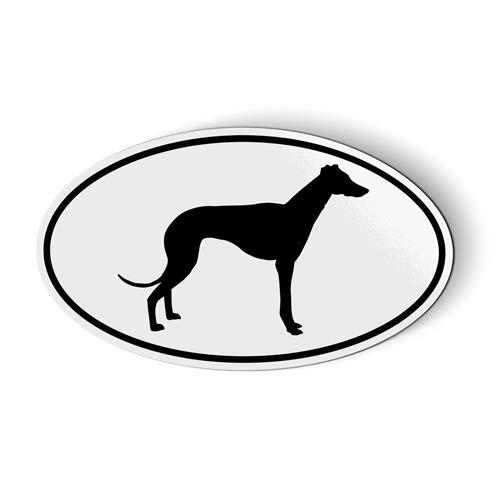 (Greyhound Oval - Magnet for Car Fridge Locker - 5.5