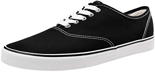 - VEPOSE Men's Fashion Sneaker Canvas Casual Shoes Low Top Skate Shoe (10,Black)