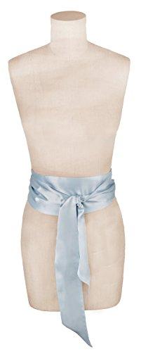Silk Charmeuse Sash (L. Erickson USA Obi Sash Belt - Silk Charmeuse Baby Blue)