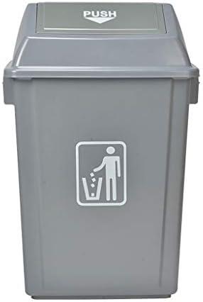 キッチンゴミ箱/ごみ箱 プラスチックゴミ箱屋外ショッピングモールホテルコミュニティオフィス分類ゴミ箱カバーグレー23 L ビン (Capacity : 100L)