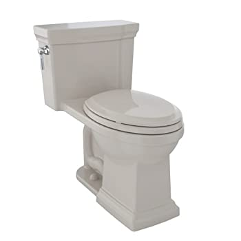 TOTO MS814224CUFG#03 Promenade II 1G One-Piece Elongated 1.0 GPF Universal Height Toilet with CeFiONtect, Bone