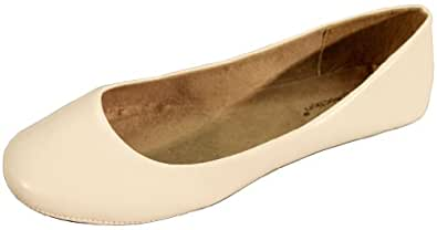Max Collection Women's May White Ballet Flats 6 US
