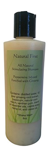 Natural First Peppermint Infused w/Ginseng Hair Growth St...