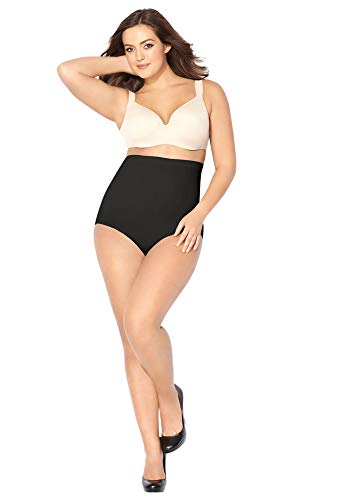 Avenue Women's Seamless Hi-Waist Shaping Brief, 2X Black