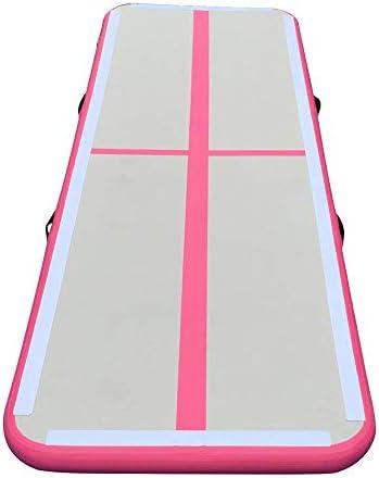 体操用マット ポンプの修理キットと118x35.4x4inchインフレータブルジムエアトラックマットフロアマットセット 体操トレーニング用マット (色 : Pink, Size : One size)