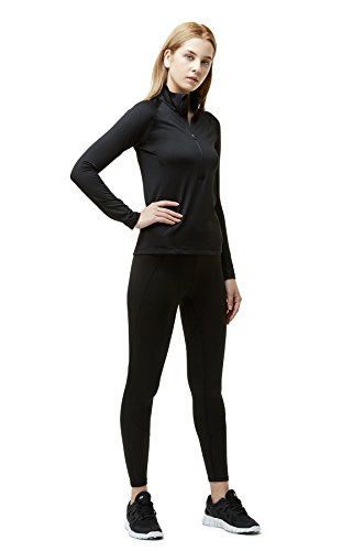 Tesla Women's Winterwear Sporty Slim Fit 1/2 Zip Fleece Lining Pullover XKZ02