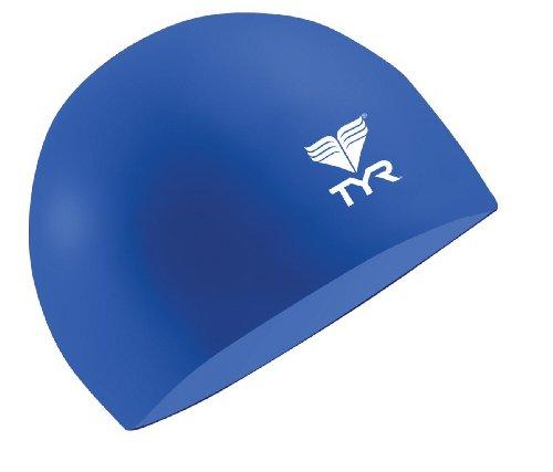 TYR Latex Swim Cap, Navy