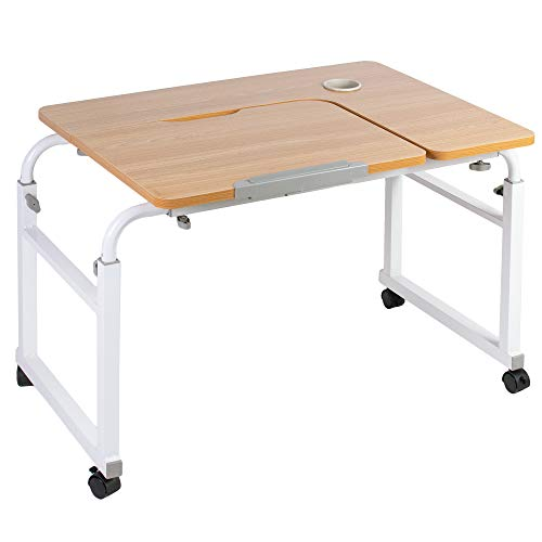 VIVO Height and Length Adjustable Mobile Desk for Kids and Adults | Tilting Table Top, Rolling Interactive Ergonomic Workstation on Wheels (DESK-V202A)