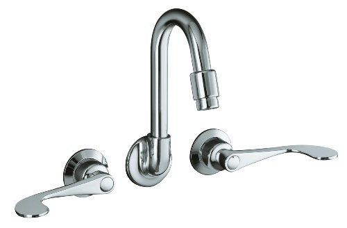 KOHLER K-7302-5A-CP Triton Shelf-Back Sink Faucet, Polished Chrome