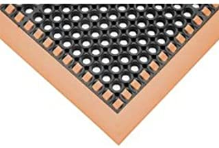 """product image for Hi-Visibility Safety Mat with Borders on 4 Sides, 40x64x1/8"""", Orange"""