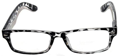 Fashion Retro Narrow Rectangular Clear Lens Eyeglasses Leopard Frame with - Frames Attitude Glasses
