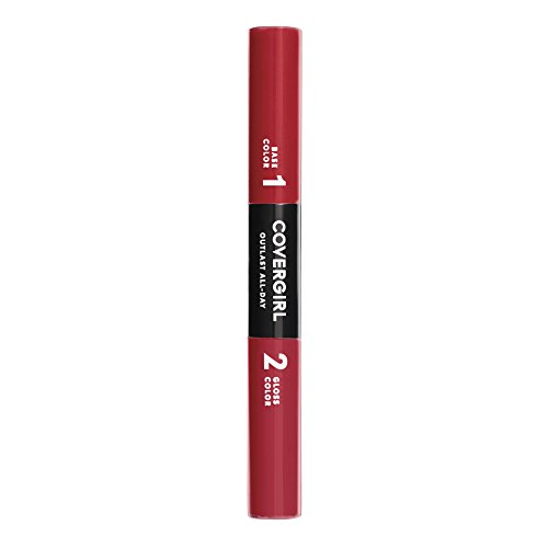 COVERGIRL Outlast All-Day Color & Lip Gloss, Richest Red, 0.2 Ounce (packaging may vary)