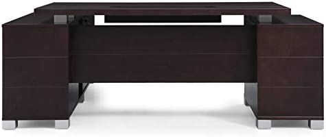 Dark Wood Finish Ford Executive Modern Desk