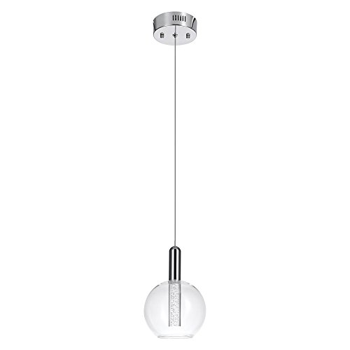 Alicia Lamp - Globe Electric 65832 Alicia Polished Chrome 5.5W Led Integrated Pendant