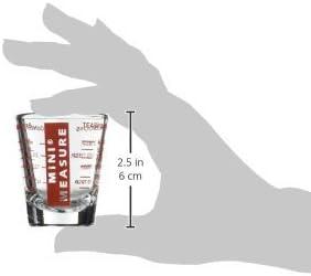 Vielseitig f/ür Fl/üssigkeiten und Trockenstoffe Mini-Messbecher 26 Ma/ßangaben f/ür Teel/öffel Unzen und milliliter Rot 1 ounce rot robustes Glas Essl/öffel Schnapsglas-Gr/ö/ße