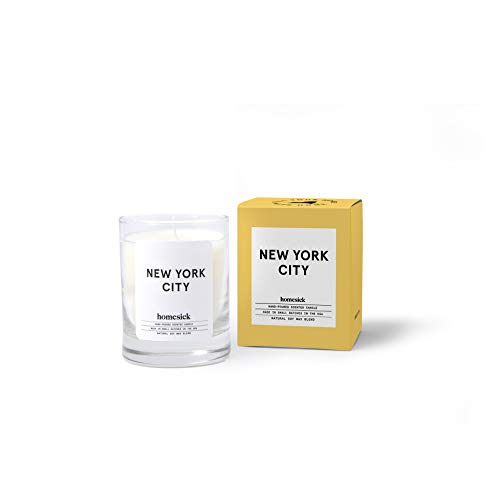 Homesick Mini Scented Candle (10 to 12 hr Burn Time) Home 1.5 oz New York City