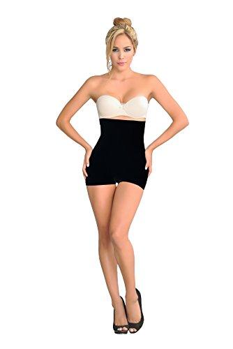 Ursula Seamless Hi-Waist Control Short, Black, Medium