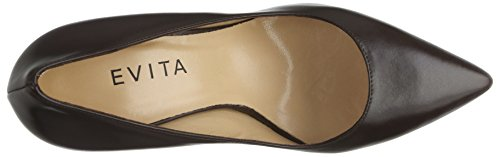 Evita Shoes Damen Aria Pumps Braun (dunkelbraun 22)