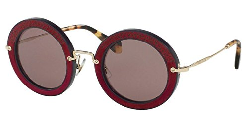 Miu Miu Women MU 08RS 49 Purple/Purple Sunglasses - Sunglasses Round 49mm Miu Miu