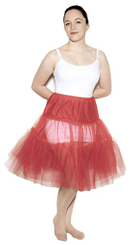 Red Crinoline Slip size Adult Plus / XL by Hey Viv !
