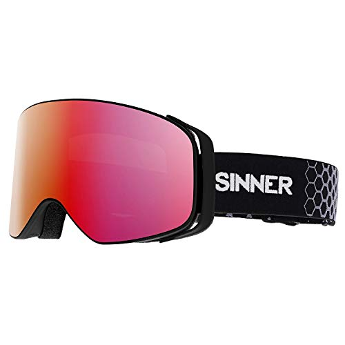 SINNER Olympia Matte Snow Goggles One Size Matte Black (Sinner Goggles)