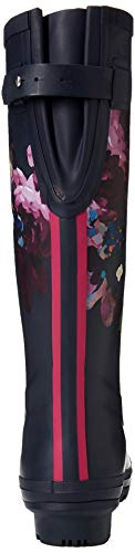Joules Blue De Wellyprint navy Mujer Botas Agua Floral Navflor Para BBOUF