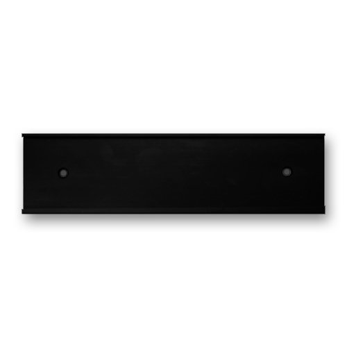 10 x 2 Wall or Door Nameplate Holder with Clear Plastic Insert - Pack of 10 - Made in USA (Black)