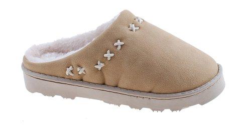 Colorfulworldstore Matte leather&cotton snow boots/home slippers/men&women's house shoes-7colors for man&women's Women-Beige qYzCT