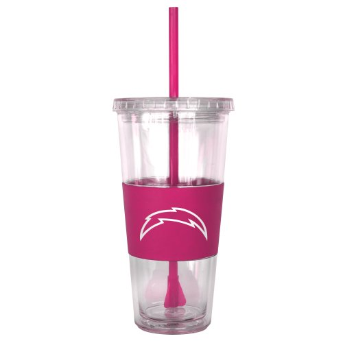rs Pink Tumbler with Straw, 22-Ounce (San Diego Chargers Tumblers)