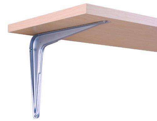 Knape & Vogt John Sterling RP-0026-8X10PM Utility Shelf Bracket, Platinum, 8-Inch by 10-Inch