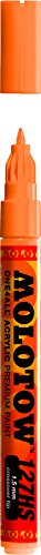 Molotow ONE4ALL Acrylic Paint Marker, 1.5mm, Neon Orange Flu