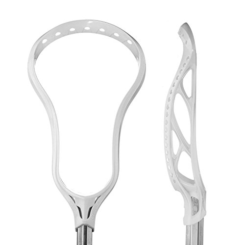 Brine Clutch Unstrung Lacrosse Head, White, X6-Spec