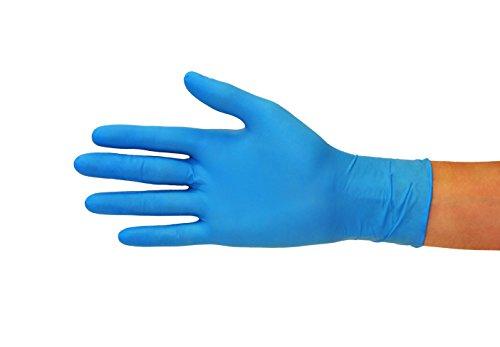 Guantes de nitrilo Caja de 100 piezas (M, azul) sin polvo guantes desechables, sin látex guantes de examen, no estériles… 10
