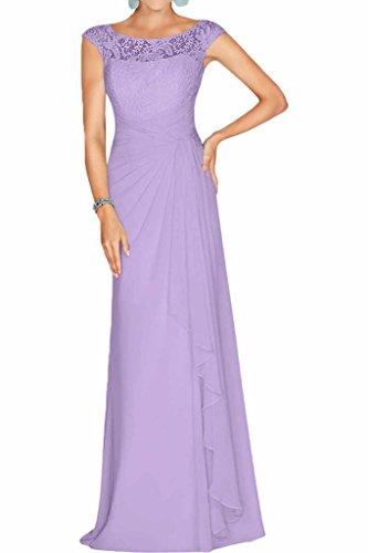 La Lilac Abendkleider Weinrot A Brautmutterkleider U Ausschnitt mia Abschlussballkleider Partykleider Spitze Braut Linie Chiffon CxTaCRwngq