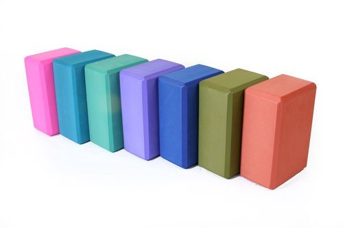 AngelBeauty Foam Extrmely Durable 3'' x 6'' x 9'' Yoga Block (Pink, Block X 2)