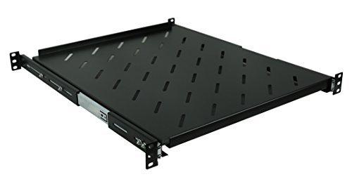 Fixed Rack Server Shelf 1U 19'' 4 Post Rack Mount-Adjustable 19''-24'' by Raising Electronics