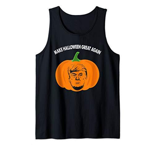 Top Political Halloween Costumes 2019 (Trumpkin Funny Trump Pumpkin Pie Pun USA Halloween Tank)