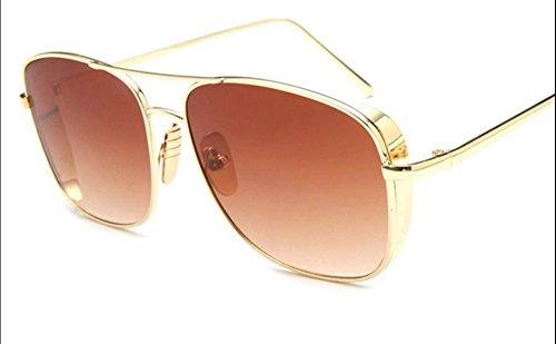 Gafas a2 Grueso Metal Borde A4 Tendencia De Retro Sol Sol a1xaZAw