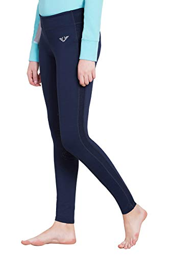 (TuffRider Women's Ventilated Schooling Tights, Navy/Navy, Large)