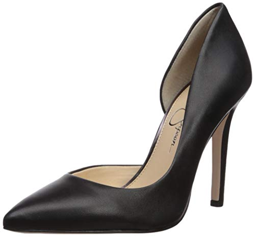 Jessica Simpson Women's Claudette Pump Black Leather 9 M - Jessica Leather