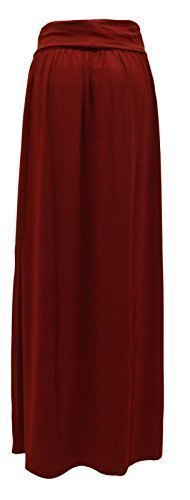 GLAM COUTURE NEUF FEMMES LONG EXTENSIBLE JUPE LONGUE JERSEY GB TAILLES 8-14 Bordeaux