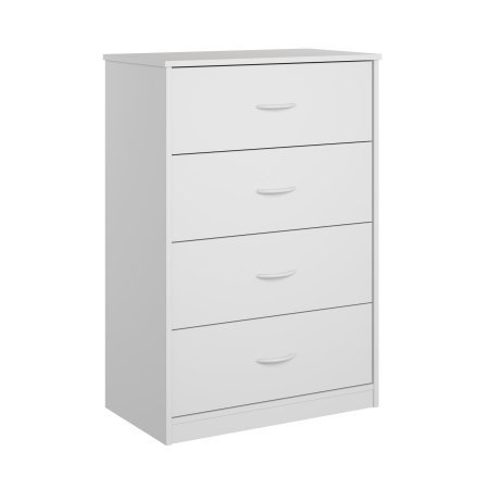 Mainstay 4-Drawer Dresser White (4-Drawer, White)