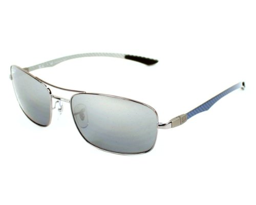 Ray-Ban RB8309 - GUNMETAL Frame POLAR GRAY MIRROR SILVER GRAD. Lenses 59mm Polarized (Ray Ban Optiker)